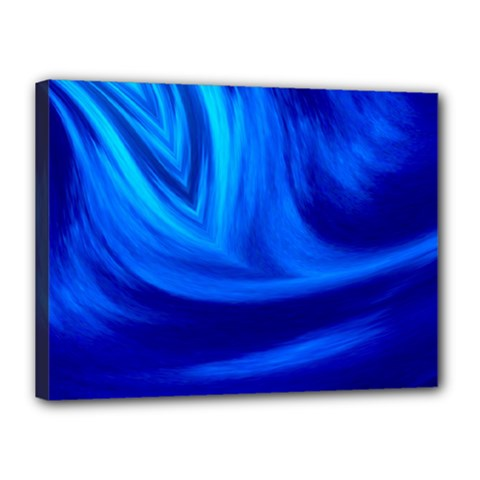 Wave Canvas 16  x 12  (Framed)