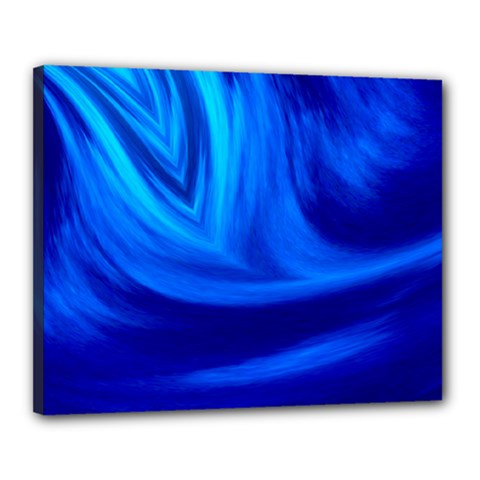 Wave Canvas 20  X 16  (framed)