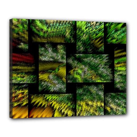 Modern Art Canvas 20  X 16  (framed)
