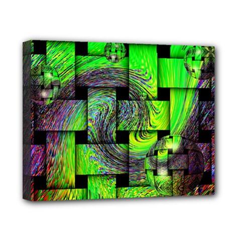 Modern Art Canvas 10  x 8  (Framed)
