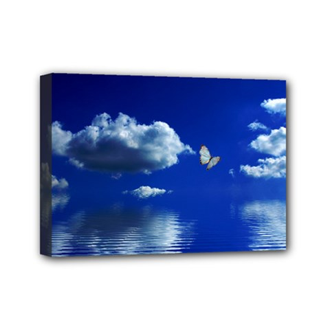 Sky Mini Canvas 7  X 5  (framed)