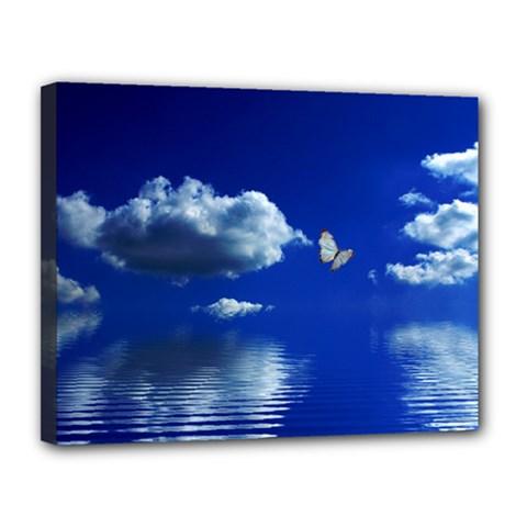 Sky Canvas 14  x 11  (Framed)