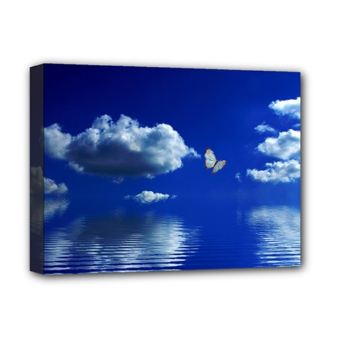 Sky Deluxe Canvas 16  X 12  (framed)