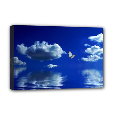 Sky Deluxe Canvas 18  x 12  (Framed)