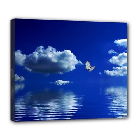 Sky Deluxe Canvas 24  x 20  (Framed)