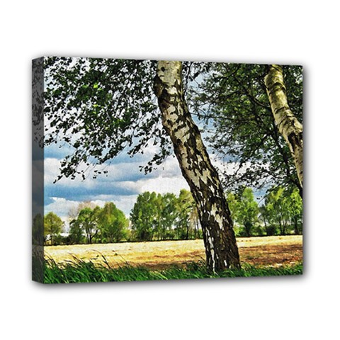 Trees Canvas 10  x 8  (Framed)