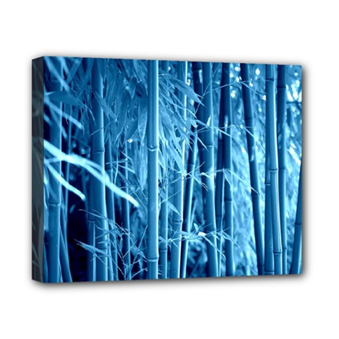 Blue Bamboo Canvas 10  x 8  (Framed)