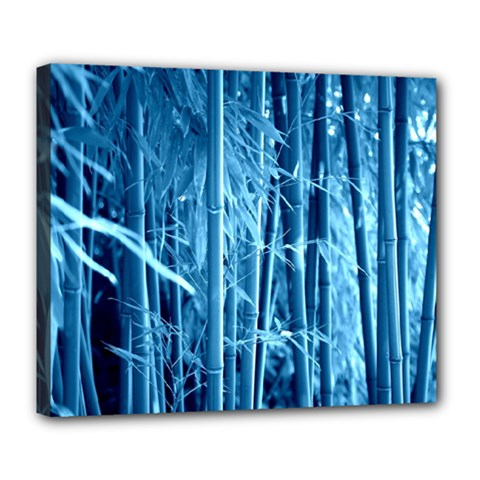 Blue Bamboo Deluxe Canvas 24  X 20  (framed)