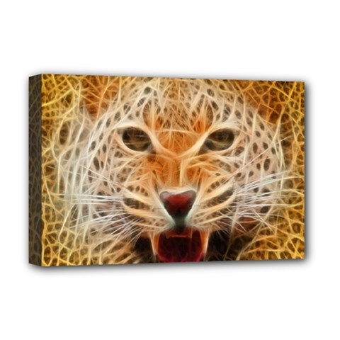 Jaguar Electricfied Deluxe Canvas 18  x 12  (Framed)