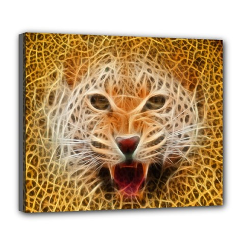 Jaguar Electricfied Deluxe Canvas 24  X 20  (framed)