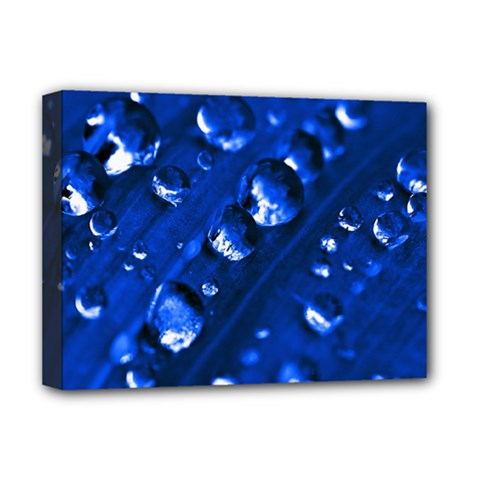 Waterdrops Deluxe Canvas 16  x 12  (Framed)