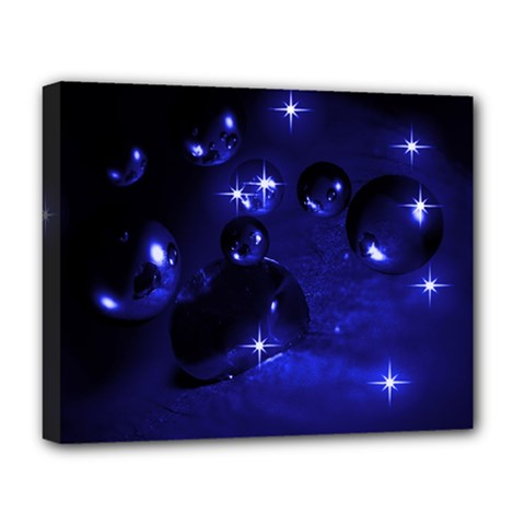 Blue Dreams Deluxe Canvas 20  x 16  (Framed)