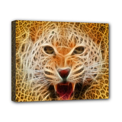 Electrified Fractal Jaguar Canvas 10  x 8  (Stretched)
