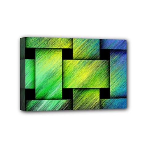 Modern Art Mini Canvas 6  X 4  (framed)
