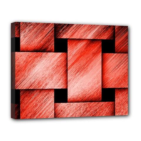 Modern Art Canvas 14  x 11  (Framed)