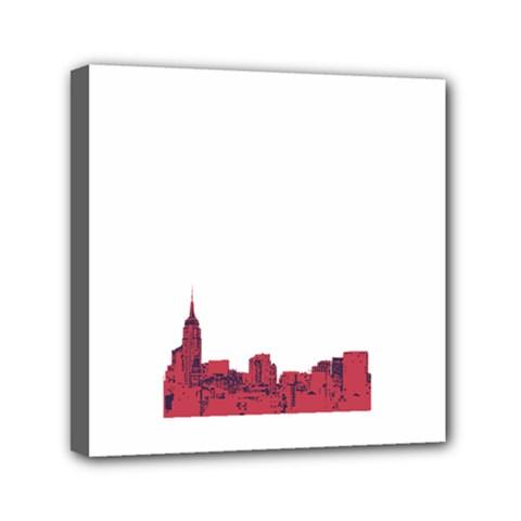 Skyline Mini Canvas 6  X 6  (framed)