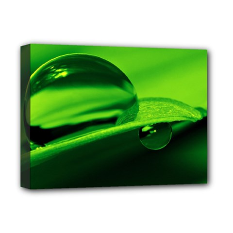 Green Drop Deluxe Canvas 16  x 12  (Framed)