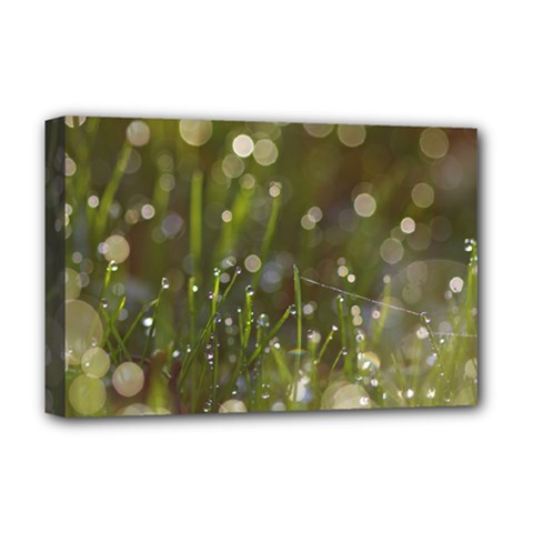 Waterdrops Deluxe Canvas 18  x 12  (Framed)