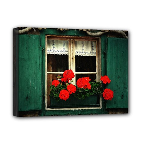 Window Deluxe Canvas 16  x 12  (Framed)