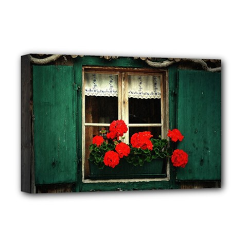 Window Deluxe Canvas 18  X 12  (framed)