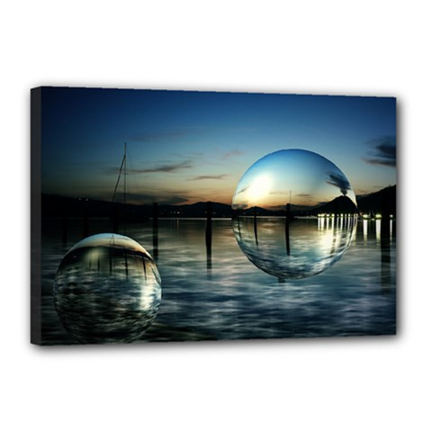 Magic Balls Canvas 18  X 12  (framed)