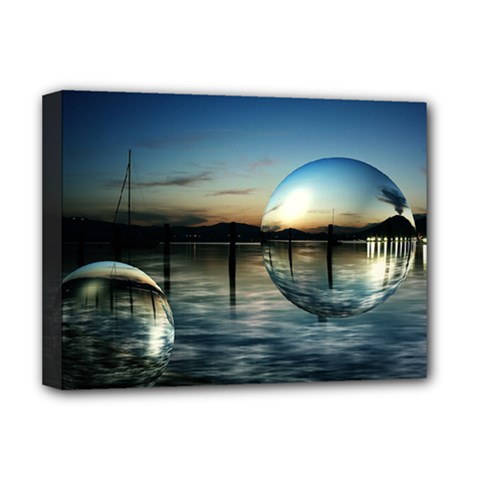 Magic Balls Deluxe Canvas 16  x 12  (Framed)