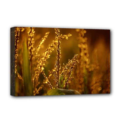 Field Deluxe Canvas 18  X 12  (framed)
