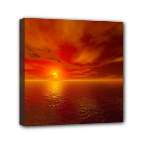Sunset Mini Canvas 6  x 6  (Framed)