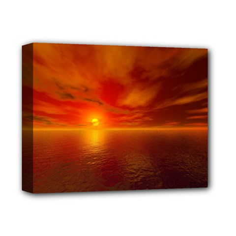 Sunset Deluxe Canvas 14  x 11  (Framed)