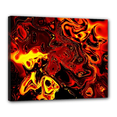 Fire Canvas 20  x 16  (Framed)