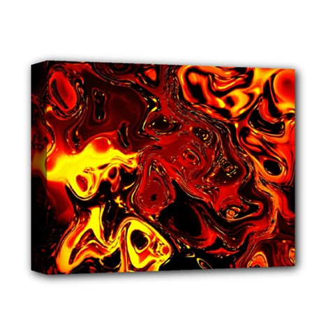 Fire Deluxe Canvas 14  X 11  (framed)