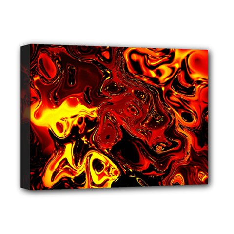 Fire Deluxe Canvas 16  X 12  (framed)
