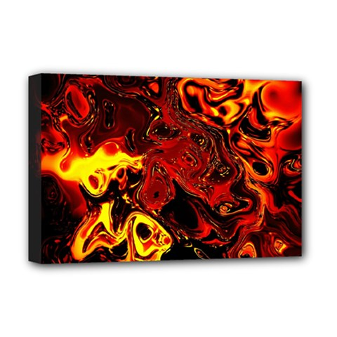Fire Deluxe Canvas 18  X 12  (framed)