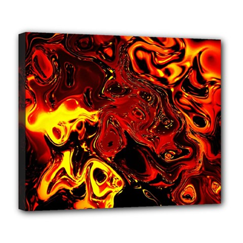 Fire Deluxe Canvas 24  x 20  (Framed)