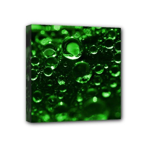 Waterdrops Mini Canvas 4  x 4  (Framed)