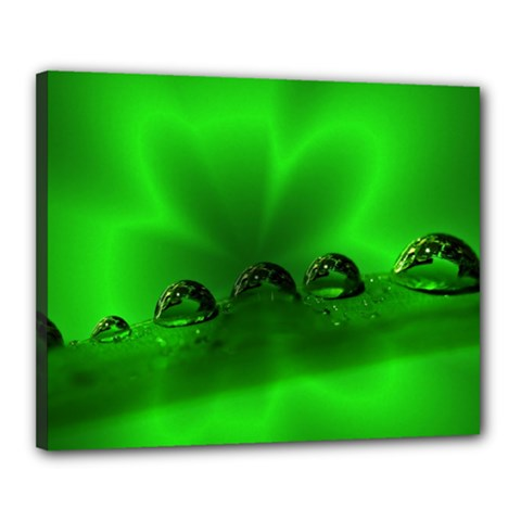 Drops Canvas 20  x 16  (Framed)