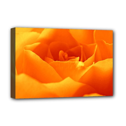Rose Deluxe Canvas 18  X 12  (framed)