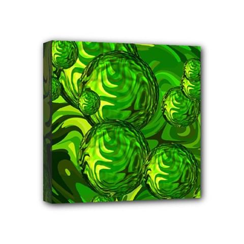 Green Balls  Mini Canvas 4  X 4  (framed)