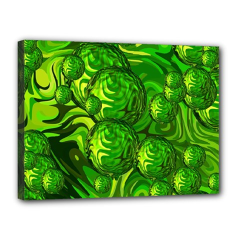 Green Balls  Canvas 16  x 12  (Framed)