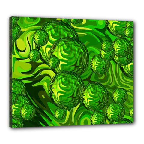 Green Balls  Canvas 24  x 20  (Framed)