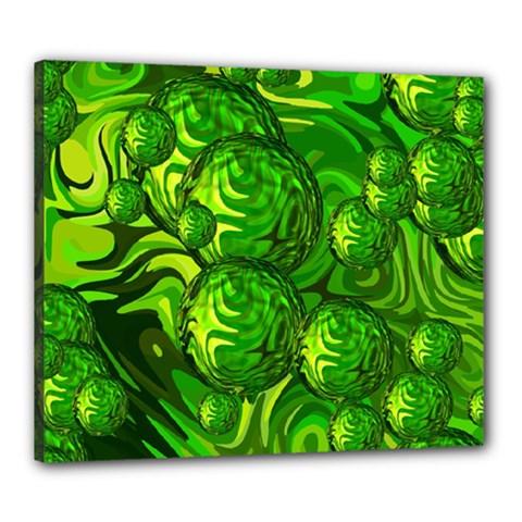 Green Balls  Canvas 24  X 20  (framed)