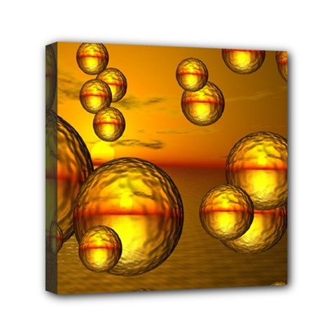 Sunset Bubbles Mini Canvas 6  x 6  (Framed)