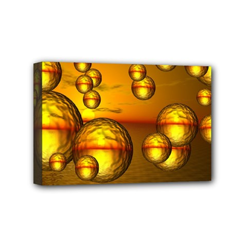 Sunset Bubbles Mini Canvas 6  X 4  (framed)