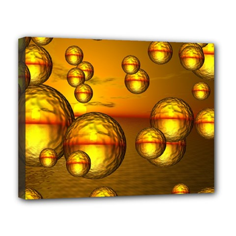 Sunset Bubbles Canvas 14  x 11  (Framed)