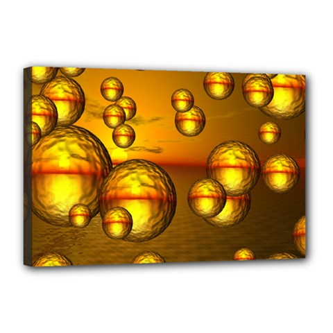 Sunset Bubbles Canvas 18  x 12  (Framed)