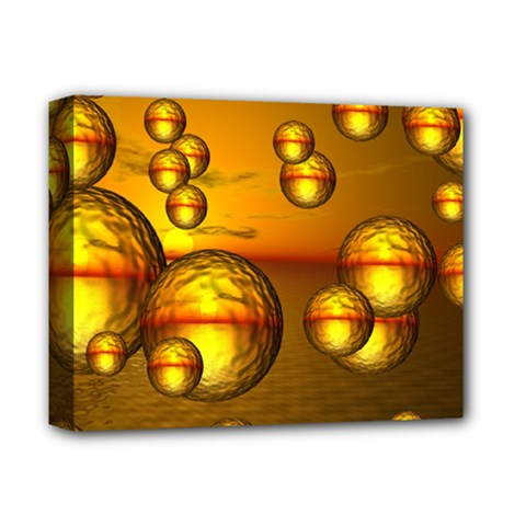 Sunset Bubbles Deluxe Canvas 14  X 11  (framed)