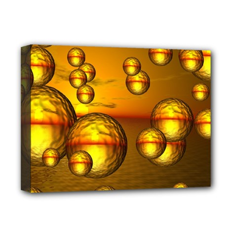 Sunset Bubbles Deluxe Canvas 16  x 12  (Framed)
