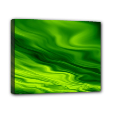 Green Canvas 10  x 8  (Framed)