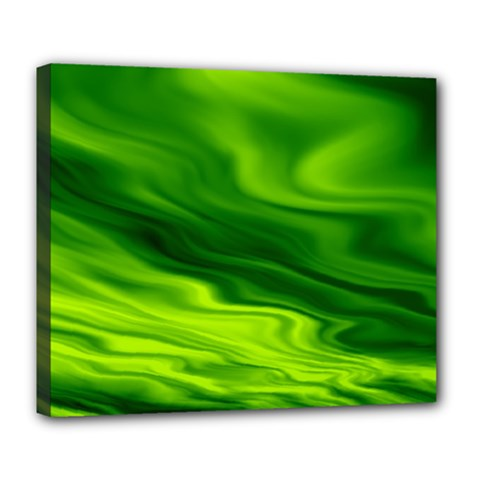 Green Deluxe Canvas 24  x 20  (Framed)