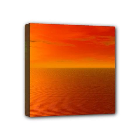 Sunset Mini Canvas 4  x 4  (Framed)